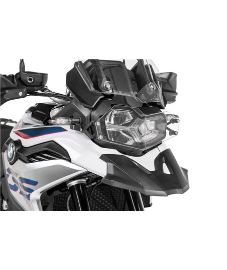 Headlight protector makrolon with quick release fastener for BMW F850GS / F750GS *OFFROAD USE ONLY*