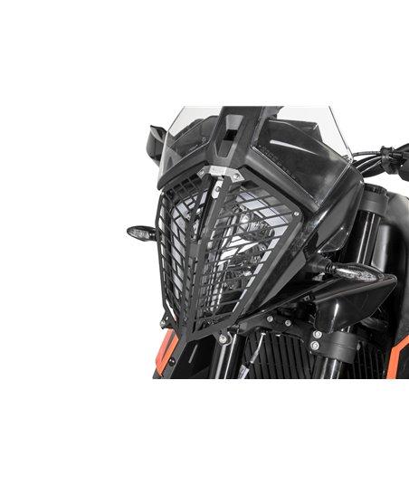 Headlamp guard, aluminium, with quick release fastener for KTM 890 Adventure / 890 Adventure R / 790 Adventure / 790 Adventure R