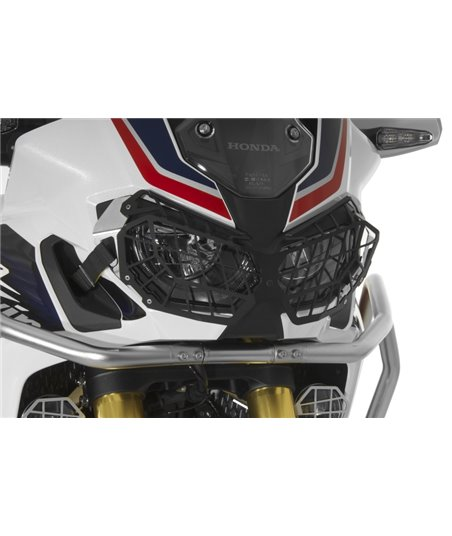 Aluminium black headlight protector with quick release fastener, for Honda CRF1000L Africa Twin/ CRF1000L Adventure Sports *OFFR