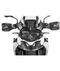 Stainless steel black headlight protector with quick release fastener for BMW F850GS / F750GS *OFFROAD USE ONLY*