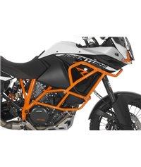 Crash bar extension KTM 1050 Adventure/ 1090 Adventure/ 1190 Adventure/ 1190 Adventure R for original KTM crash bars, orange