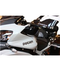Hand protectors for Ducati Multistrada 1200 up to 2014 *black* for original handlebar – supplied with LED indicator set