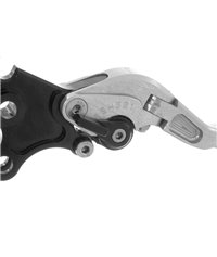 Clutch lever set, silver, for BMW F800GS, F650 GS (Twin), F800R, F800S, F800ST, road legal