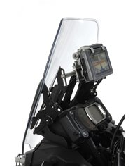 Windscreen adjuster with GPS mounting bar for Yamaha XT1200Z Super Tenere up to 2013