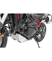 Toolbox with engine crash bar NO DCT - complete - stainless steel, black for Honda CRF1100L Africa Twin / CRF1100L Adventure Spo