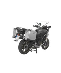 ZEGA Pro aluminium pannier system 31/31 litres with stainless steel rack black for Yamaha MT-09 Tracer (2015-2017)